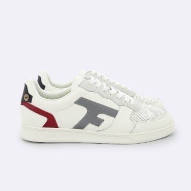 CREAM & RED SNEAKERS IN LEATHER