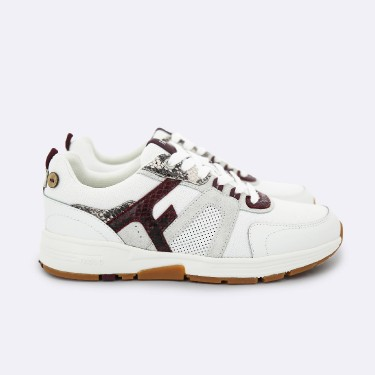 WHITE & MULTICOLOR RUNNINGS IN RECYCLED POLYESTER NYLON & SUEDE