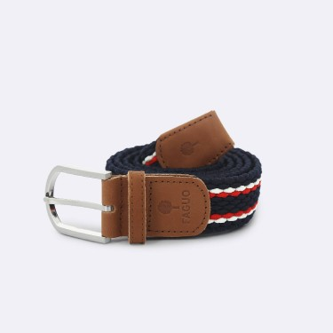 NAVY & RED BELT IN RECYCLED POLYESTER NYLON