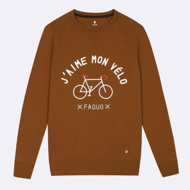 COGNAC ROUND COLLAR SWEATER IN RECYCLED COTTON