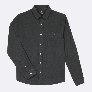 ANTHRACITE CLASSIC SHIRT IN  COTTON