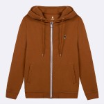 COGNAC HOODIE IN RECYCLED COTTON
