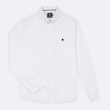 WHITE CLASSIC SHIRT IN  COTTON
