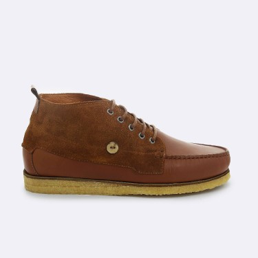 TAWNY & COGNAC BOOTS IN  LEATHER & SUEDE