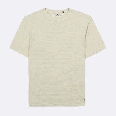 LIGHT GREEN ROUND COLLAR T-SHIRT RECYCLED COTTON
