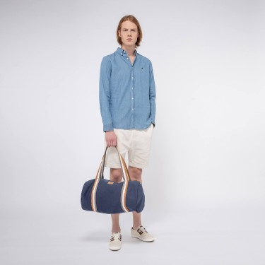 Navy & red sac de sport déperlant cotton