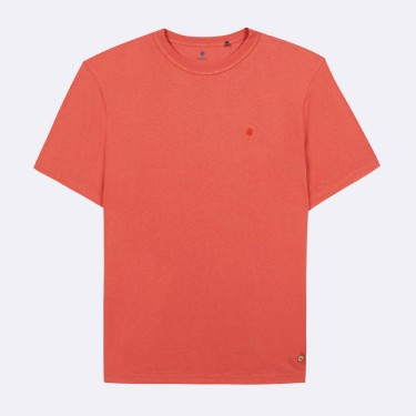 CORAL ROUND COLLAR T-SHIRT RECYCLED COTTON