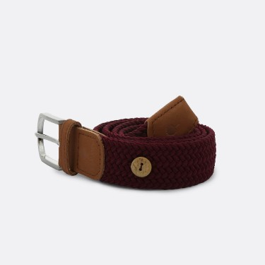 BURGUNDY BELT IN RECYCLED POLYESTER