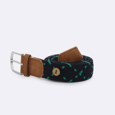 NAVY GREEN BELT IN RECYCLED POLYESTER