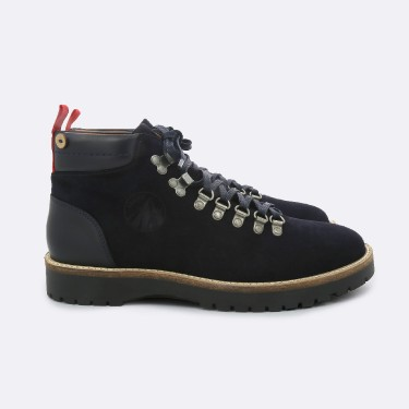 NAVY BOOTS IN SUEDE