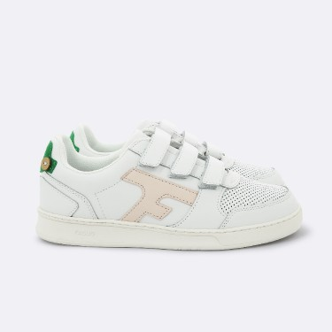 WHITE & GREEN BASKETS IN RECYCLED LEATHER