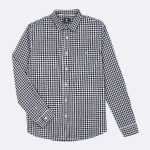 WHITE & BLACK CLASSIC SHIRT IN RECYCLED COTTON