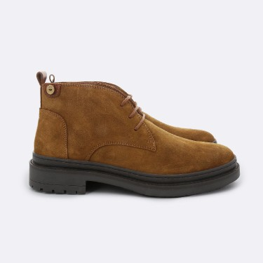 CAMEL BOOTS IN SUEDE