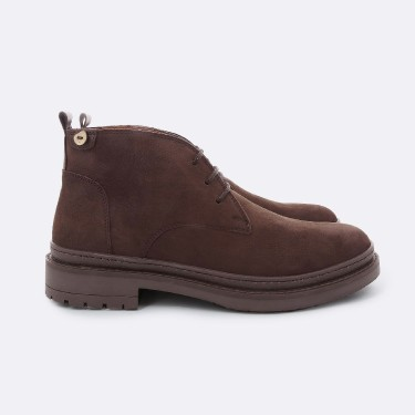 DARK BROWN BOOTS IN LEATHER