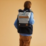 Light grey backpack in recycled polyester