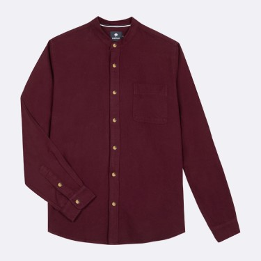 BURGUNDY SHIRT IN RECYCLED COTTON
