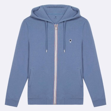 BLUE HOODIE IN RECYCLED COTTON