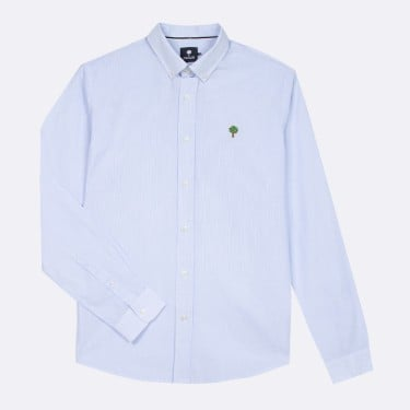 WHITE & BLUE CLASSIC SHIRT IN RECYCLED COTTON