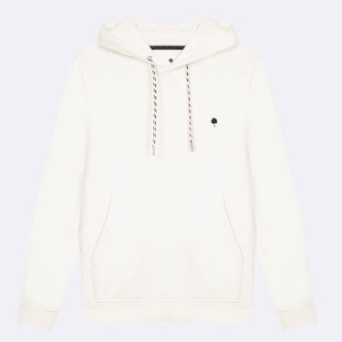 ECRU HOODIE IN RECYCLED COTTON