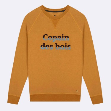 CAMEL ROUND COLLAR SWEATSHIRT IN RECYCLED COTTON