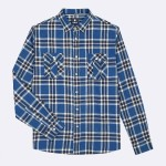 NAVY & DARK BLUE SHIRT WITH POCKETS IN RECYCLED COTTON