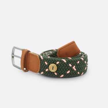 GREEN PINK BELT IN RECYCLED POLYESTER