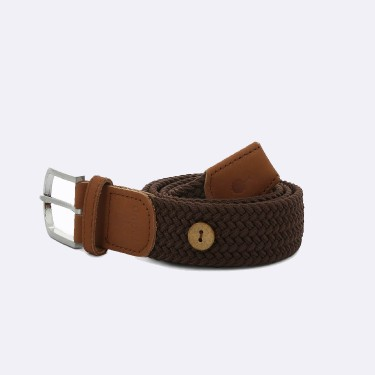 DARK BROWN BELT IN RECYCLED POLYESTER