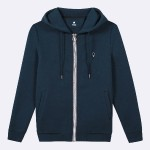 Navy hoodie in cotton