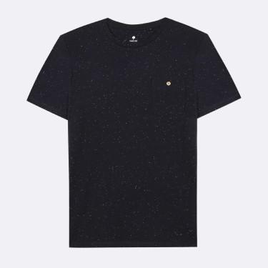 T-shirt en coton recyclé moucheté marine