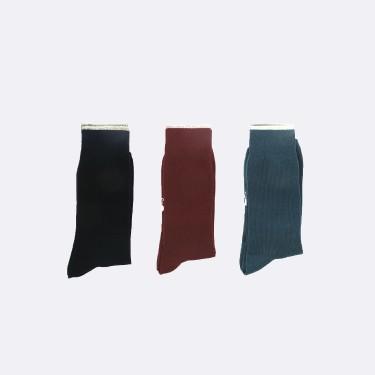 Chaussettes en coton recyclé bleu