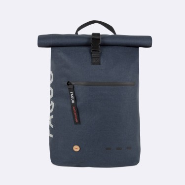 Navy backpack recycled polyester