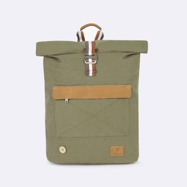 Kaki & tawny backpack cotton