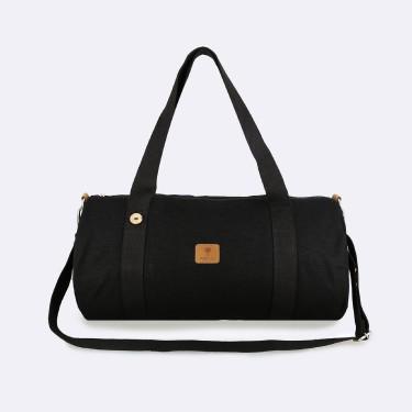 Black cotton sport bag