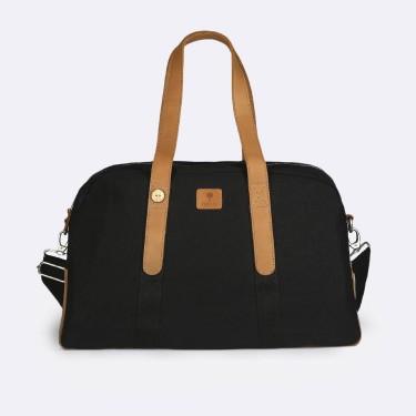 Black cotton week-end bag